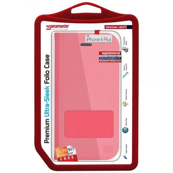 PROMATE-ALGERIE-STORE-Etui-en-cuir-pour-iPhone-6-Plus-6S-Plus-Rouge-I6P