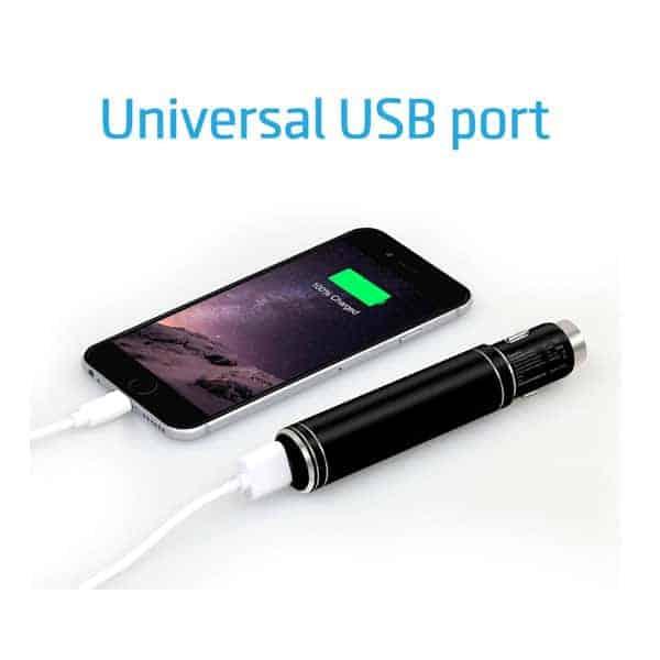 Promate - Spark Chargeur de voiture et powerbank 3 en 1 en aluminium 12V USB avec marteau d'urgence - AlgerieStore