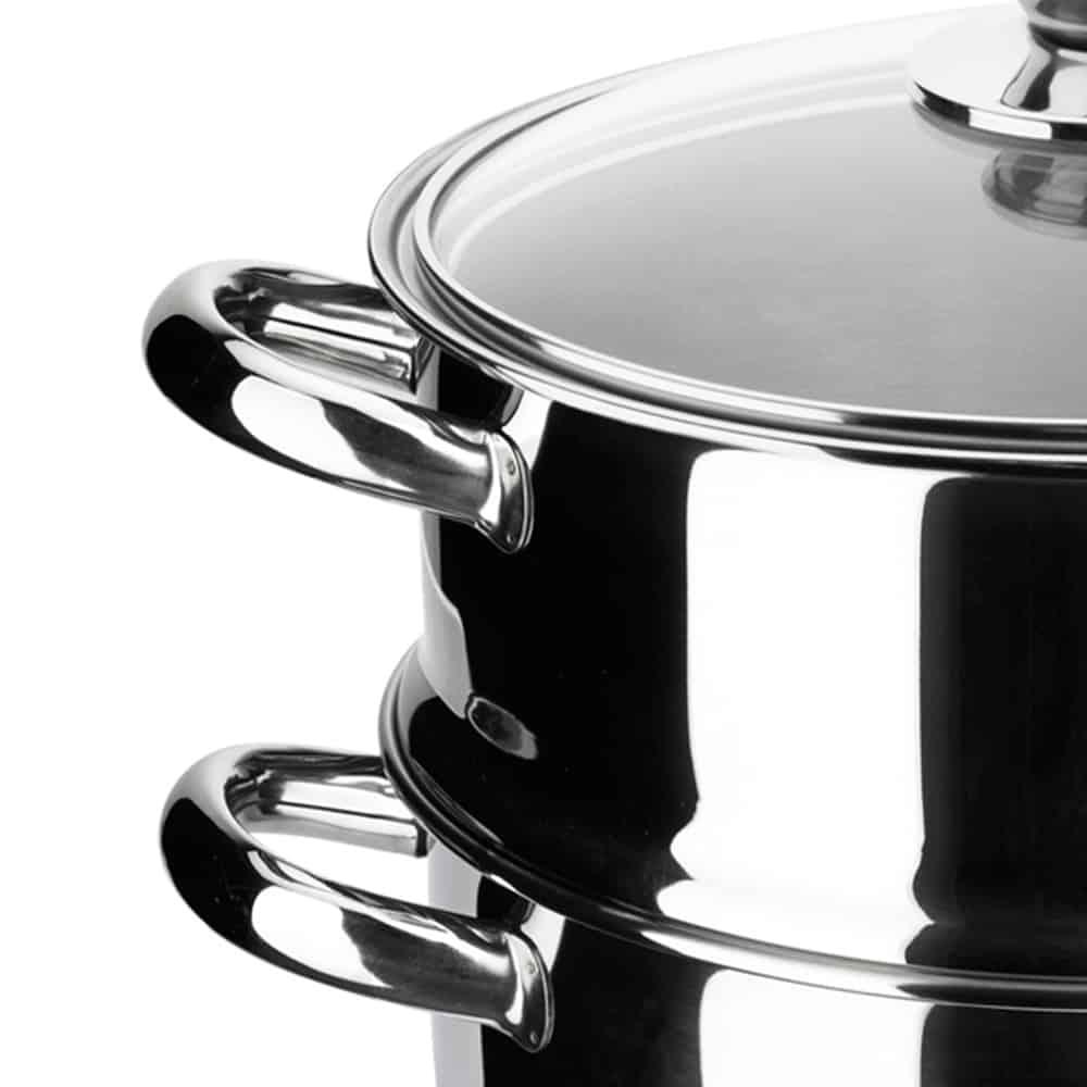 Ensemble vapeur marmite y cuiseur Ecco Cristal INoxibar  Algerie Store
