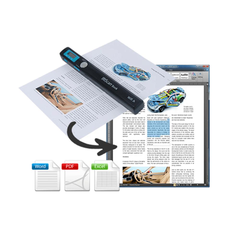 IRIS Can Book 3 Faites simplement glisser votre scanner sur le document à numériser et créez instantanément une image haute résolution