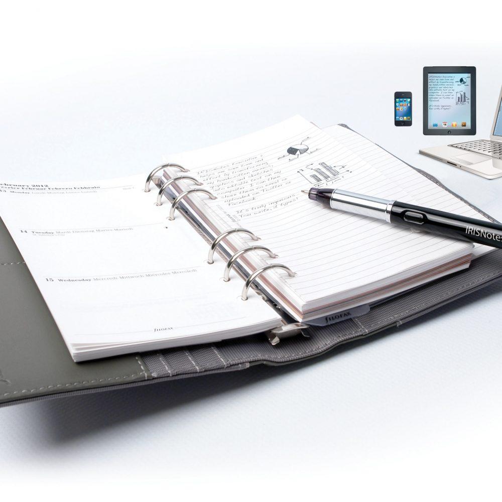 IRIS Notes Il fonctionne avec n'importe quel type de papier standard avec standard recharge d'encre Transforme vos notes en texte , Word ou Notepad