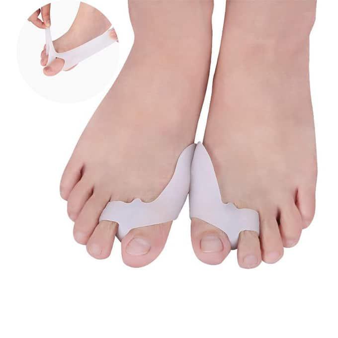 MEGAWELL MP012 Séparateur d'orteil pour H.V Ce produit est conçu spécialement pour les personnes qui souffrent de l'hallux valgus leur pied.