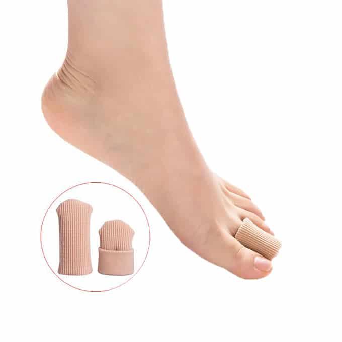 MEGAWEL MP015 Capuchons d'orteils en silicone tissu découpable Un bouchon doux, confortable et extensible en tissu entièrement doublé avec du gel.